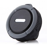 LACARLA High Quality Wireless Speaker Suction Cup and Mountainering [C6] - Black - Speaker Bluetooth & Wireless