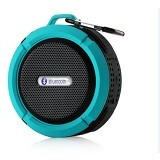 LACARLA High Quality Wireless Speaker Suction Cup and Mountainering [C6] - Blue - Speaker Bluetooth & Wireless