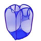 LACARLA Keranjang Lipat (Hamper) Baju Kotor - Blue - Keranjang Baju / Laundry Bin
