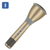 LACARLA Magic Karaoke with Bluetooth Speaker [KTV-K088] - Gold (Merchant) - Microphone Live Vocal