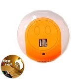 LACARLA Multifunction Smart Design LED Night Light with Dual USB Charging Port [XC-016] - Orange (Merchant) - Cable / Connector Usb