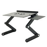 LACARLA Multifunctional Aluminium Alloy Adjustable Portable Laptop Table Stand - Black (Merchant)
