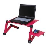 LACARLA Multifunctional Aluminium Alloy Adjustable Portable Laptop Table Stand - Pink (Merchant)