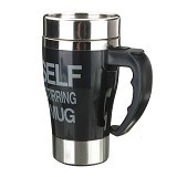 LACARLA New Model Self Stirring Mug 350ml - Black