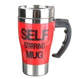 LACARLA New Model Self Stirring Mug 350ml - Red - Gelas