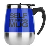 LACARLA New Self Stirring Mug 450ml Big Model - Blue - Gelas