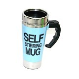 LACARLA New Self Stirring Mug 500ml Slim Model - Blue - Gelas