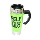 LACARLA New Self Stirring Mug 500ml Slim Model - Green - Gelas