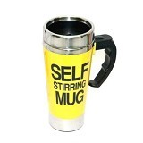LACARLA New Self Stirring Mug 500ml Slim Model - Yellow - Gelas