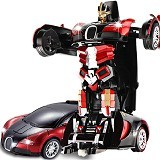 LACARLA Radio Remote Control Transformer Vehicle Car Deform Robot [TT663] - Red - Car Remote Control