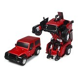 LACARLA Radio Remote Control Transformer Vehicle Car Deform Robot [TT665] - Red - Car Remote Control