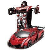 LACARLA Radio Remote Control Transformer Vehicle Car Deform Robot [TT667] - Red - Car Remote Control