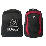 LACARLA Tas Ransel Laptop Raincoat [8-2975] - Black Red - Notebook Backpack