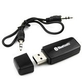 SKY88SHOP USB Bluetooth Audio Music Receiver Audio Jack 3.5mm Stereo - Black (Merchant) - Audio / Video Receivers