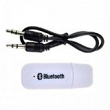 LACARLA USB Bluetooth Audio Music Receiver Audio Jack 3.5mm Stereo - White - Audio / Video Receivers