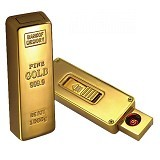 LACARLA USB Electric Lighter Gold Bar - Korek Api/Lighter