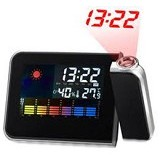 LACARLA Weather Station Projection Clock - Jam Meja