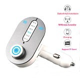 LACARLA Wireless In Car Bluetooth V3.0 EDR FM Transmitter Car Charger [T9S] - Silver (Merchant) - Car Kit / Charger