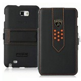 LAMBORGHINI Flip Cover Samsung Galaxy Note 1 N7000 - Black - Casing Handphone / Case