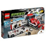 LEGO Speed Champions Porsche 919 Hybrid and 917K Pit Lane [75876] - Building Set Transportation