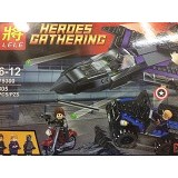LELE Captain America Civil War merk Lele Black Panther Pursuit (Merchant) - Building Set Transportation