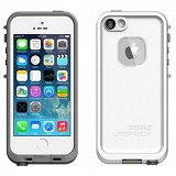 LIFEPROOF Apple iPhone 5/5S Fre Case - White/Gray - Casing Handphone / Case