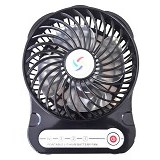 LILENG USB Fan Super Win [F-02] - Black - Kipas Angin Meja