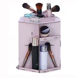 LN SHOP Rotating Cosmetic Box - Ungu Muda - Tas Kosmetik / Make Up Bag