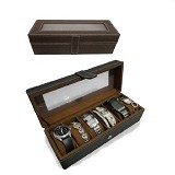 LN SHOP Watch Organizer - Brown - Jewelry Organizer