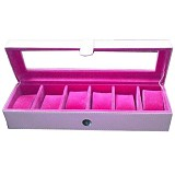 LN SHOP Watch Organizer - Pink - Jewelry Organizer
