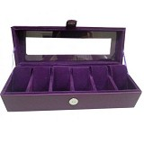 LN SHOP Watch Organizer - Purple - Jewelry Organizer