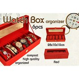 LN SHOP Watch Organizer - Red - Jewelry Organizer