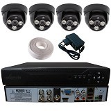 LOEWIX Paket 4 Kamera AHD CCTV 1MP - Black (Merchant) - Cctv Camera