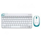 LOGITECH Keyboard Mouse Wireless MK240 - White - Keyboard Mouse Combo