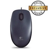 LOGITECH Wired Optical Mouse M90 [910-001795] - Dark Grey