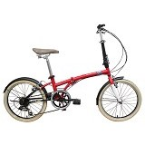 LONDON TAXI Folding Bike 20 inch - Red (Merchant) - Sepeda Lipat / Folding Bike