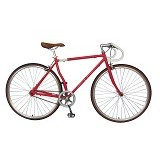 LONDON TAXI Roadbike 700C - Steel Red - Sepeda Balap / Racing Bike