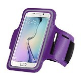 LONG CELL Armband for Smartphone 5 inch - Purple - Arm Band / Wrist Strap Handphone