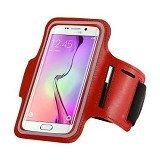 LONG CELL Armband for Smartphone 5 inch - Red - Arm Band / Wrist Strap Handphone