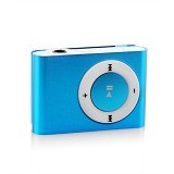 LONG CELL MP3 Music Clip with Headset - Blue - Mp3 Players