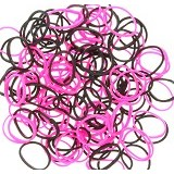 LOOM BANDS Rainbow Loom - Pink Black (Merchant) - Beauty and Fashion Toys