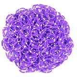 LOOM BANDS Rainbow Loom - Polkadot Purple (Merchant) - Beauty and Fashion Toys