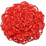 LOOM BANDS Rainbow Loom - Polkadot Red (Merchant) - Beauty and Fashion Toys