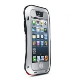 LOVE MEI Lunatik Powerful Case For Apple iPhone 5/5S - Silver - Casing Handphone / Case