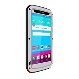LOVE MEI Lunatik Powerful Case For LG G4 - White - Casing Handphone / Case