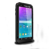 LOVE MEI Lunatik Powerful Case For Samsung Galaxy Note 4 - Black - Casing Handphone / Case