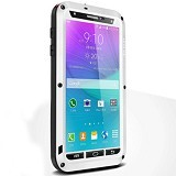 LOVE MEI Lunatik Powerful Case For Samsung Galaxy Note 4 - White - Casing Handphone / Case