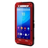 LOVE MEI Lunatik Powerful Case For Sony Xperia Z3+/Z4 - Red - Casing Handphone / Case