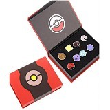 LOVELYNA STORE Bross Pokemon Simple Brooch [PLS1023680] - Red Black(Merchant) - Bros