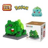 LOZ Block Bulbasaur Figure Pokemon Pokeball (Merchant) - Building Set Movie